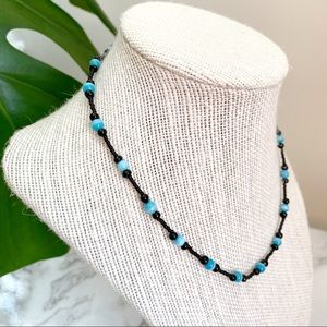 🎉5/20 SALE🎉 black & blue beaded choker necklace